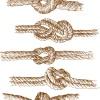 Set of knots borders elements vector 03