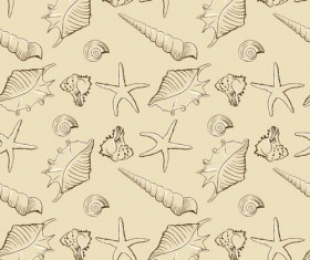 Set of Marine Small animals seamless pattern vector 02