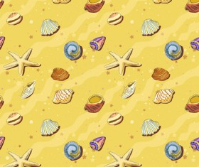 Set of Marine Small animals seamless pattern vector 05