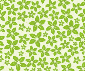 Set of Seamless Leaves pattern Vector 01
