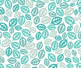 Set of Seamless Leaves pattern Vector 02