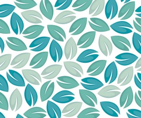 Set of Seamless Leaves pattern Vector 05