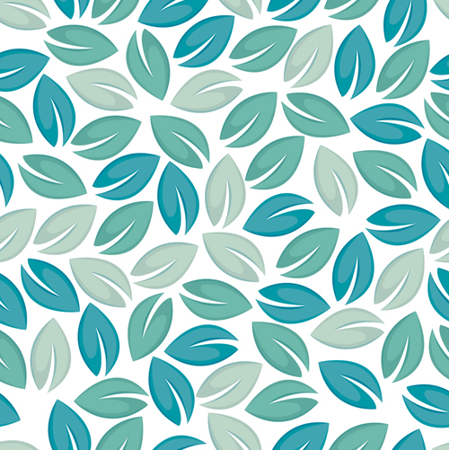 set of seamless leaves pattern vector 05 vector pattern
