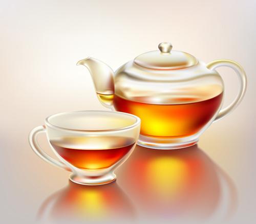 Set Of Teapot And Tea Cup Vector 02 Over Millions Vectors Stock