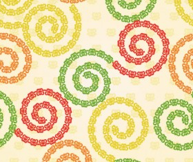 Abstract floral of Pattern vector 02