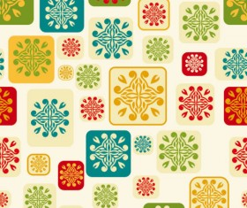 Abstract floral of Pattern vector 04