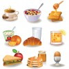 Different breakfast Vector art