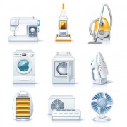 Link toDifferent household appliances vector art