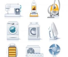 Different household appliances Vector art