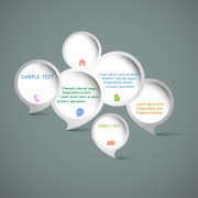 Link toVector elements of circle and cloud for the text template 01