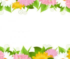 Sunflower elements background vector 02