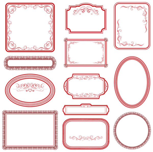 Ai] collection of hand drawn frame vector free download pikoff.