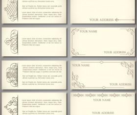Set of Vintage Business card design vector 01