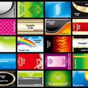 Link toVarious business cards collection vector 01