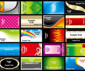 Various Business cards Collection vector 01