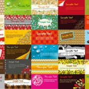 Link toVarious business cards collection vector 03