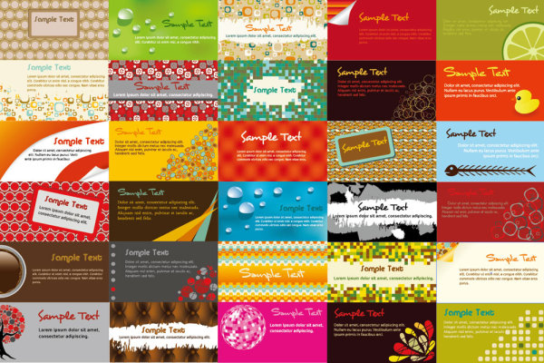 Various Business Cards Collection Vector 03 Free Download