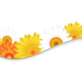 Sunflower elements background vector 03