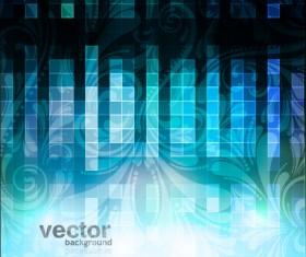 Set of Blue Grid vector background vector 03