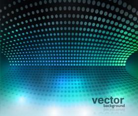 Set of Blue Grid vector background vector 04