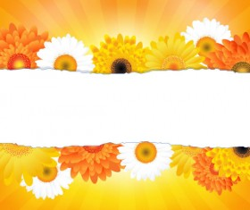 Sunflower elements background vector 04