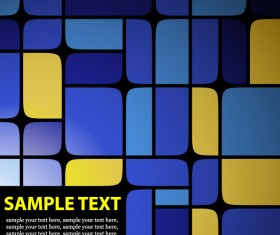 Set of Blue Grid vector background vector 05
