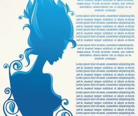 Beauty Silhouettes elements background vector 02