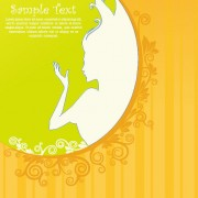 Link toBeauty silhouettes elements background vector 04