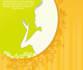 Beauty Silhouettes elements background vector 04
