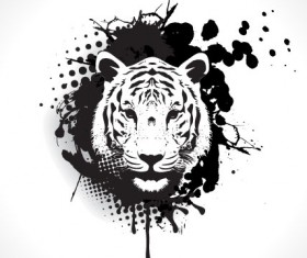 Set of Tiger vector picture art 04