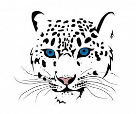 Set of Cheetah vector picture art 13