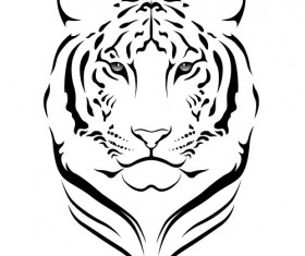 Set of Tiger vector picture art 15