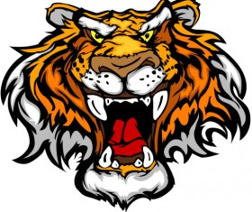 Set of Tiger vector picture art 17