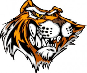 Set of Tiger vector picture art 21