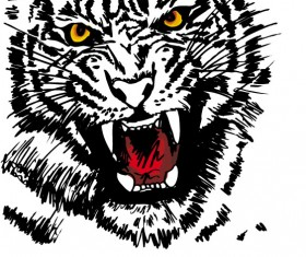 Set of Tiger vector picture art 27