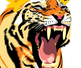 Set of Tiger vector picture art 28