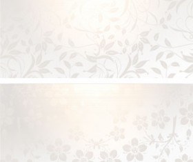 Gradients Floral banner vector