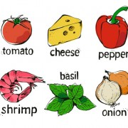 Link toSet of various food elements vector 02