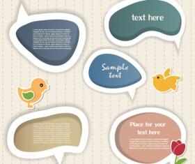 Elements of cute dialogize label vector 01