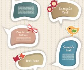 Elements of cute dialogize label vector 02