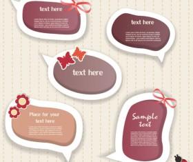 Elements of cute dialogize label vector 03