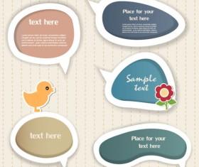 Elements of cute dialogize label vector 04