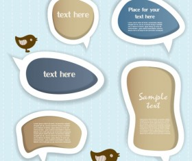 Elements of cute dialogize label vector 05