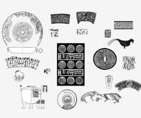 Vintage Pattern design elements vector 01