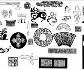 Vintage Pattern design elements vector 02