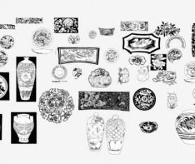 Vintage Pattern design elements vector 03