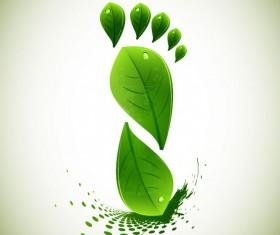 Eco elements vector set 01