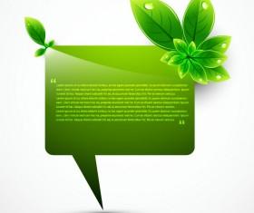 Eco elements vector set 02
