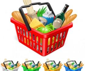 Supermarket Shopping elements vector 03