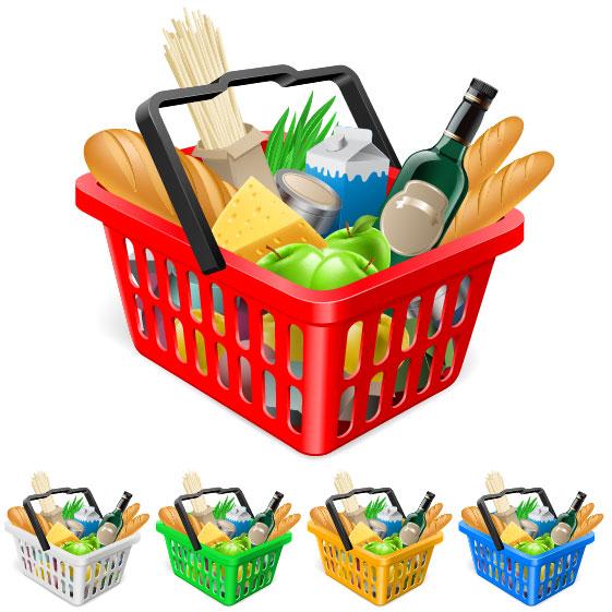 Supermarket shopping elements vector 03 u2013 Over millions ...